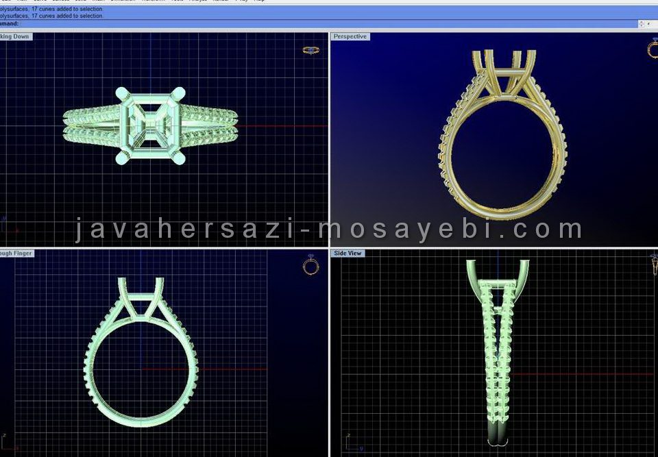 آموزش طراحی طلا و جواهر با نرم افزار